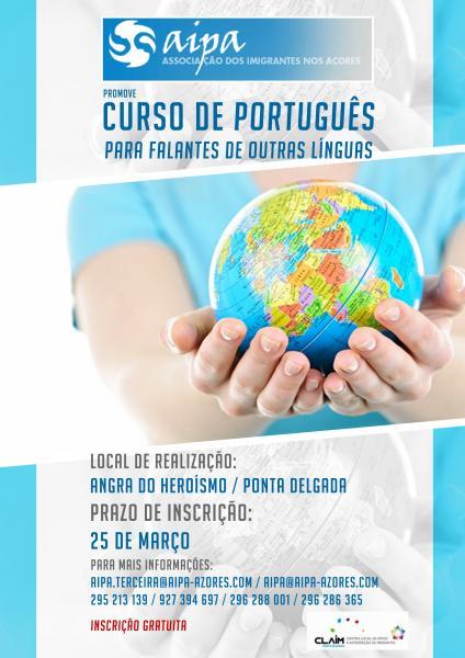 Abertas inscrições para o curso de português nas ilhas de São Miguel e Terceira