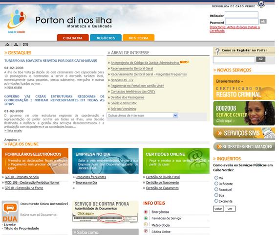 Cabo-verdianos já podem obter documentos online