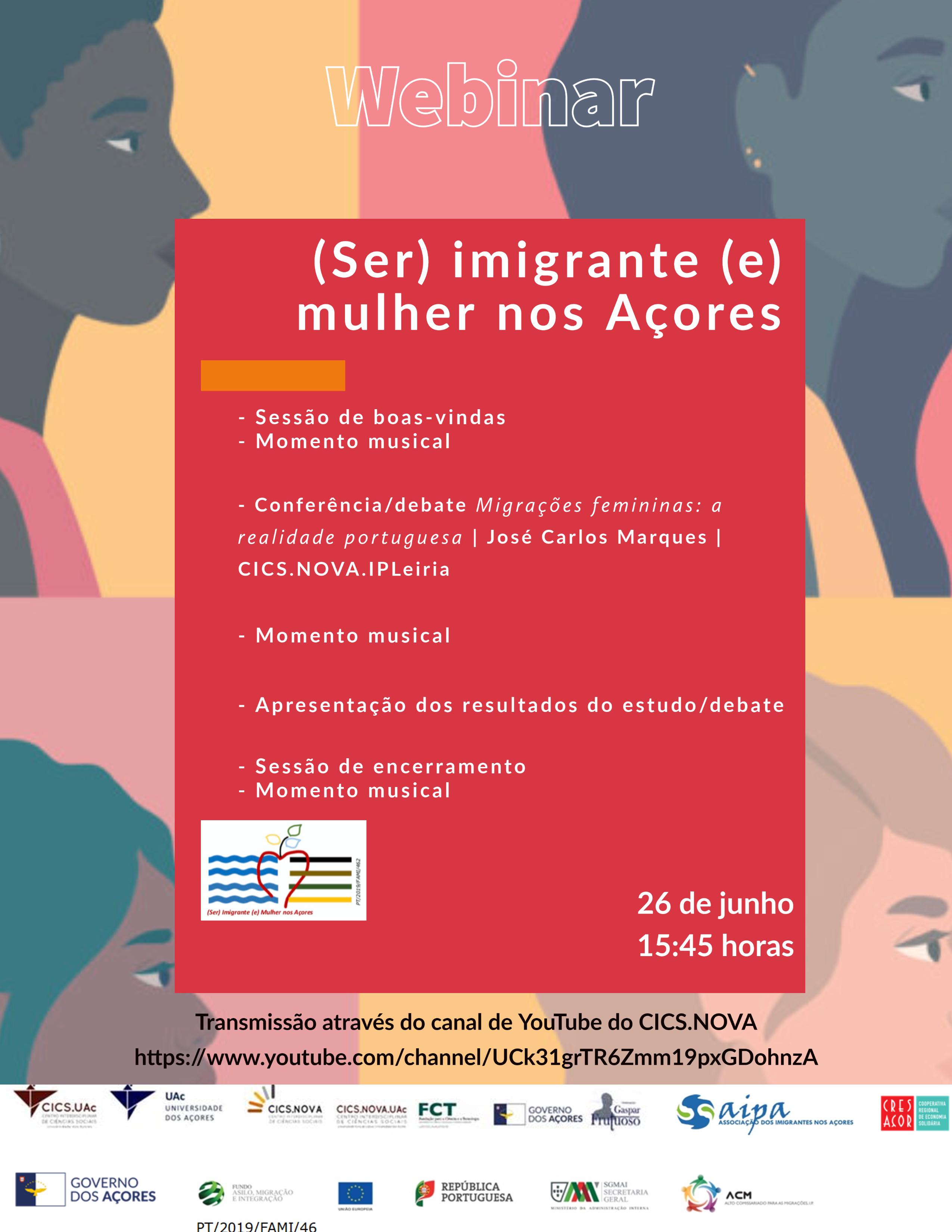 Webinar (Ser) imigrante (e) mulher nos Açores