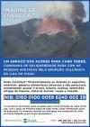 """Campanha de angariação de donativos para as vítimas da erupção vulcânica na Ilha do Fogo em Cabo Verde: """" Um abraço dos Açores para Cabo Verde"""""""