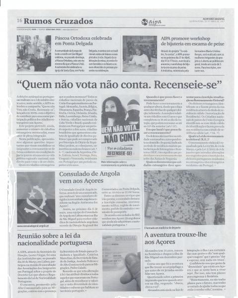"""Rumos Cruzados de 20 de abril: """"Quem não vota, não conta"""""""